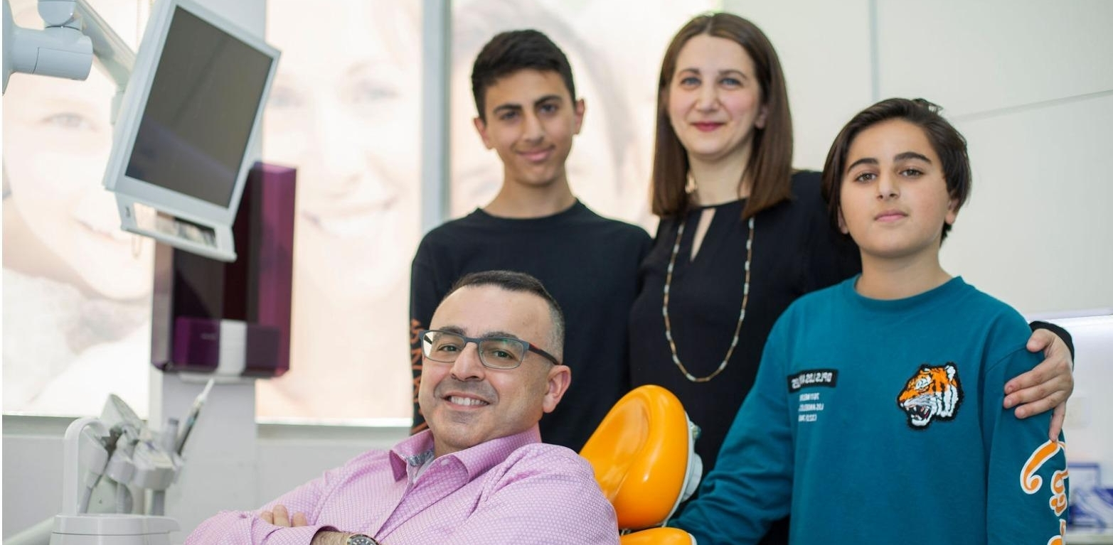 Dr Ayar and his two sons and wife at our Ramsgate dental clinic